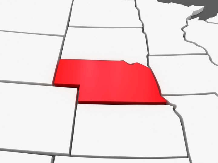 3d nebraska map