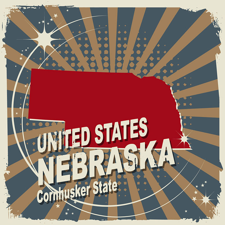 abstract nebraska map